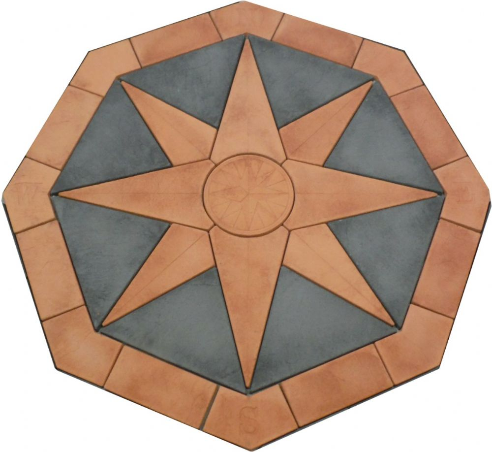 2400mm Compass In Slate Grey / Terracotta ( no infill )